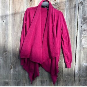 Moda International open draped cardigan sweater XS